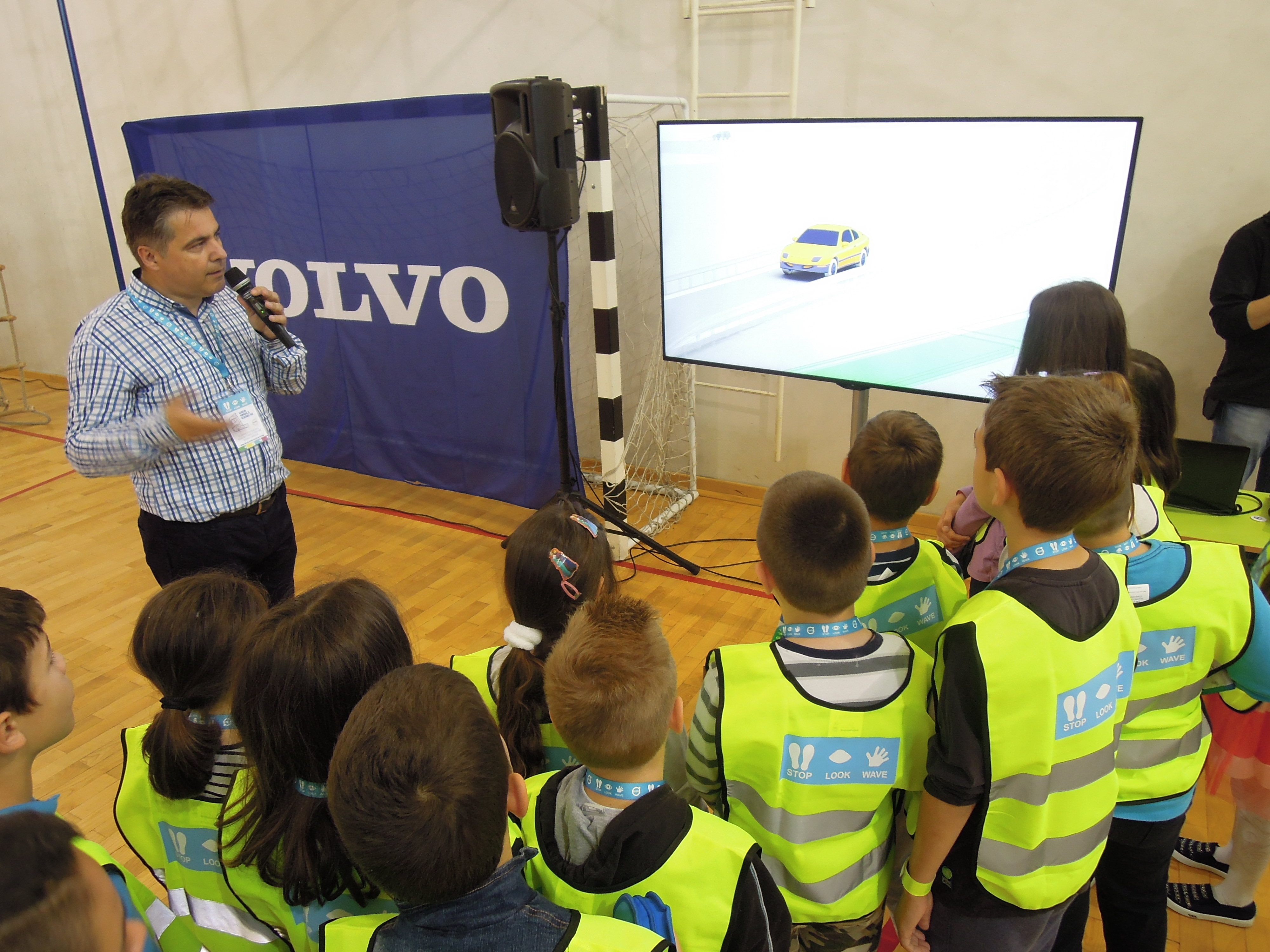 Volvo - educational workshops for children - Stop, Look, Wave, organised by Event Planner