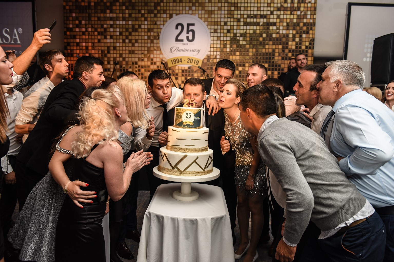 Celebrating 25 years of DIM Trade, event organized by Event Planner and Ana Aleksic - cake